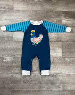 Patch Work Rooster Romper