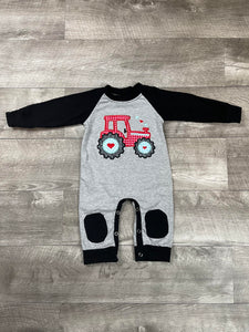 V-Day Tractor Romper