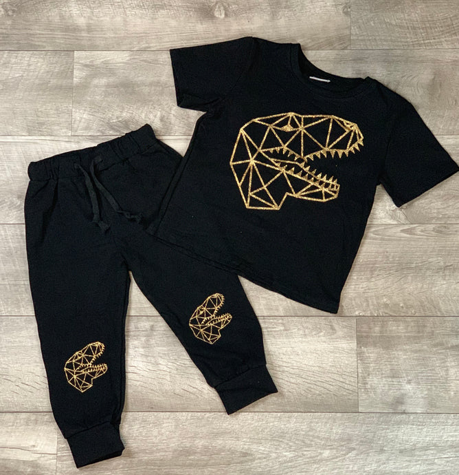 Gold Speckled Dinosaur Jogger
