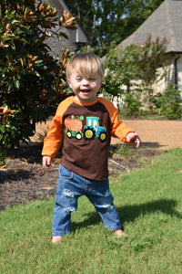 On The Farm Pumpkin Raglan