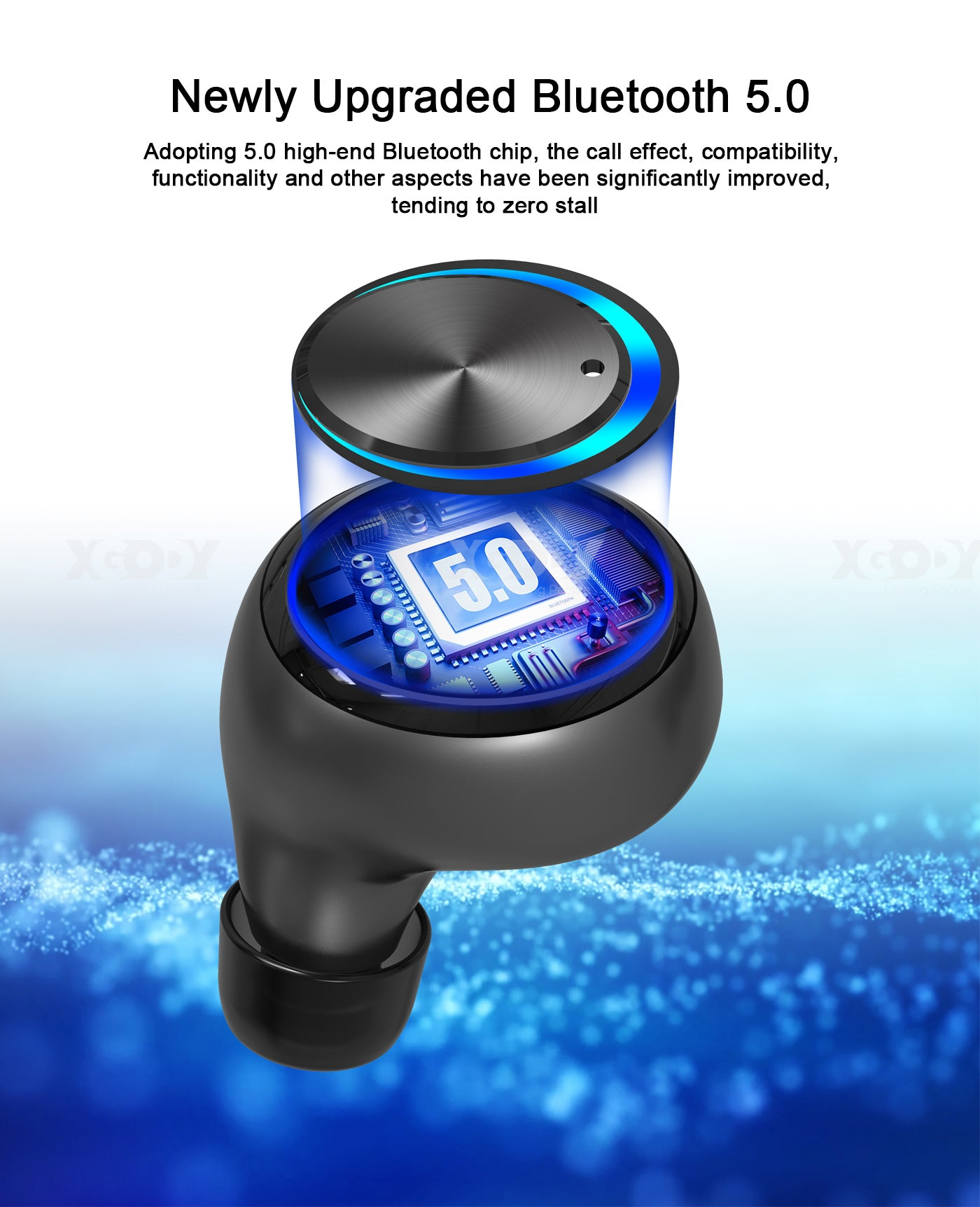 Xgody H02 TWS Waterproof Bluetooth 5.0 Earphone