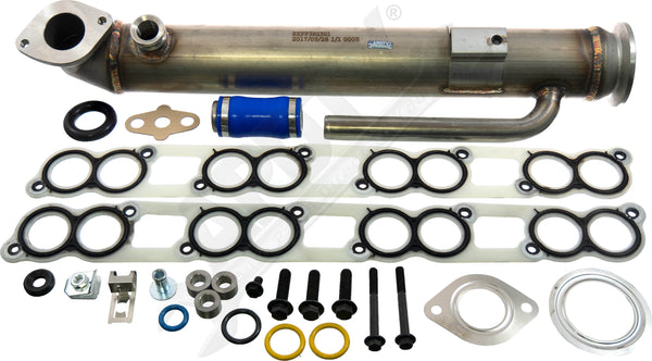 APDTY 015371 EGR Cooler Upgraded Stainless Steel Tube Design For Early Ford 6.0L