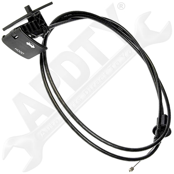 APDTY 023122 Hood Release Cable w/ Handle Fits 1991-1996 Chevy Beretta & Corsica