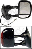 APDTY 0662230 Tow Towing Mirror w/ Smooth Cover Turn Signal Right Passenger-Side
