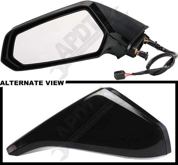 APDTY 0662685 Side View Mirror Power, Non-Heated; Without Auto Dimming
