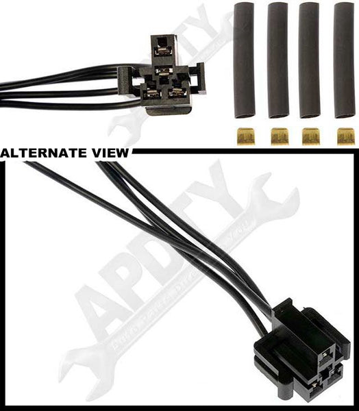 APDTY 084418 Blower Motor Speed Resistor Harness Pigtail