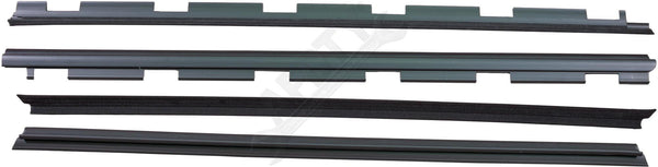 APDTY 134001 Weatherstrip Front Left & Right Inner & Outer Rubber Dew Wipe Set