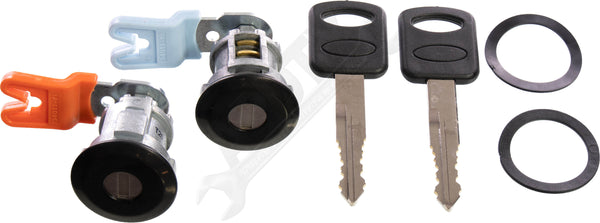 APDTY 140060 Door Lock Cylinder Pair With New Keys (Also Fits Tailgate)