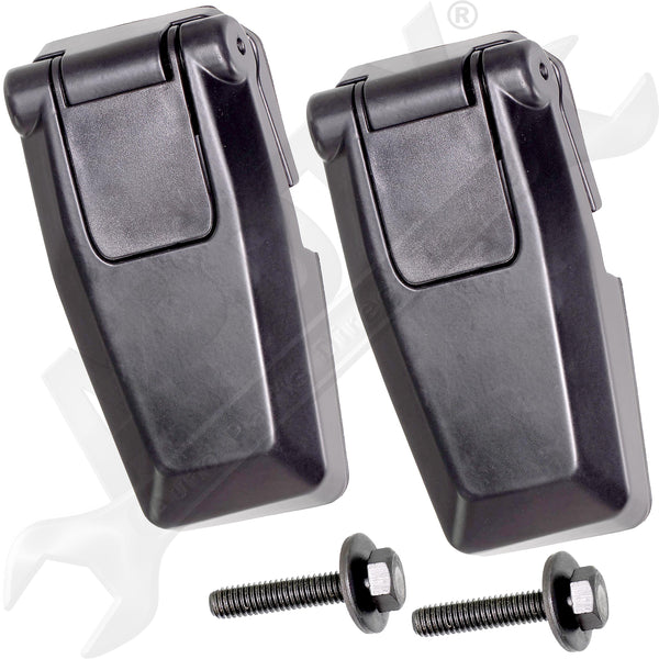 APDTY 140068 Liftgate Back Glass Hinge Set Rear Left & Right Fits 08-12 Liberty
