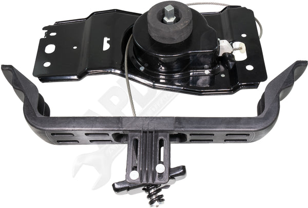 APDTY 140157 Spare Tire Winch Hoist Holder Carrier Cable & Bracket Assembly