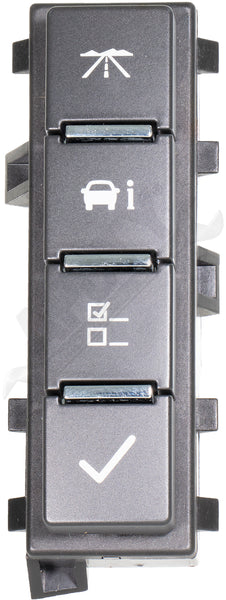 APDTY 141300 Dash Mounted DIC Driver Information Center Display Switch Fits GM