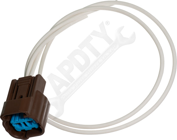 APDTY 141743 Wire Wiring Harness Pigtail Connector 2-Wire Brown