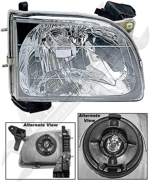 APDTY 2602814 Headlight Assembly w/Bulb Fits Right 2001-2004 Toyota Tacoma