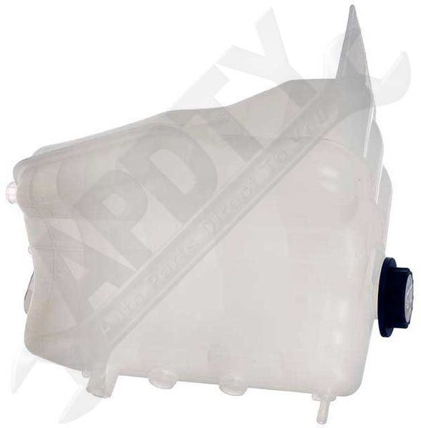 APDTY 7146214 Coolant Reservoir Fluid Overflow Plastic Bottle Housing w/ Cap