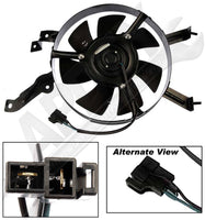 APDTY 731854 AC Condenser Cooling Fan Assembly 1983-87 Mazda 626 (G030-61-710A)