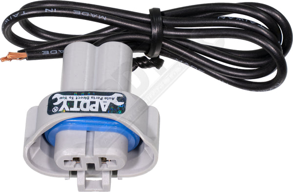 APDTY 95895 Pigtail Harness 2 Wire H9 Low Temp Headlight Socket 01-10 Models
