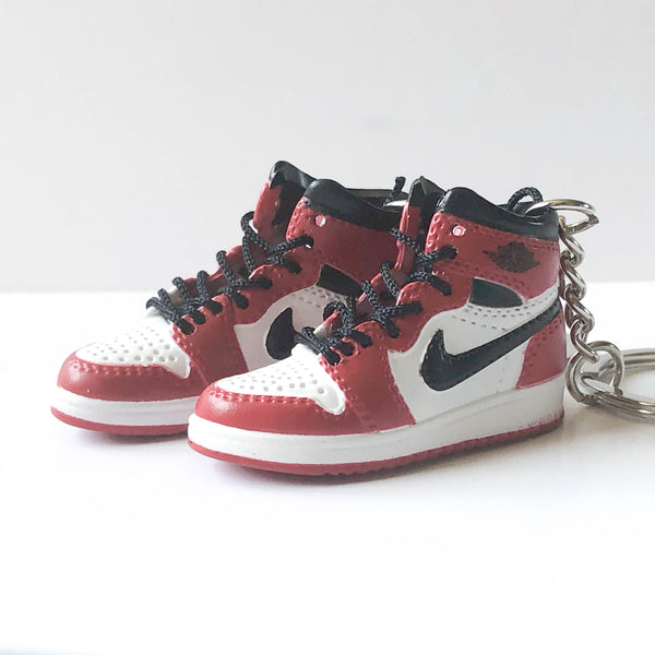 "Jordan 1 - Retro High OG Red ""High Chicago"" - Mini Sneaker Keychain 3D"