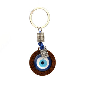 Evil Eye Keychain With Hamsa Hand, Owl, Elephant