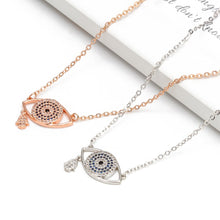 Load image into Gallery viewer, Fashionable Rose Gold Evil Eye Necklace