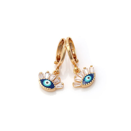 Gold Evil Eye Earrings Featuring The Evil Eye - Evileyes.net