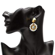 Load image into Gallery viewer, Turkish Evil Eye Earrings With Pearls - Evileyes.net