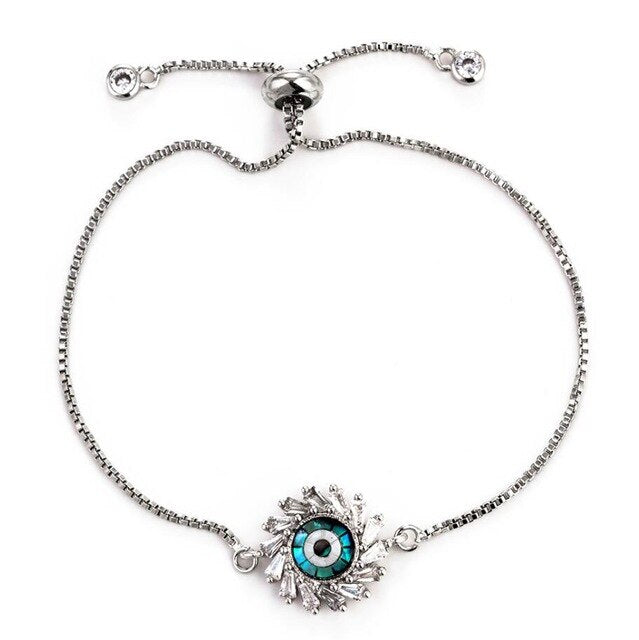 Sun Shaped Evil Eye Protection Bracelet - Evileyes.net