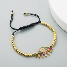 Load image into Gallery viewer, Colorful Evil Eye Bracelet With Energy Stones