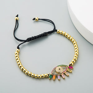 Colorful Evil Eye Bracelet With Energy Stones