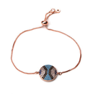 Adjustable Micro-Paved Evil Eye Bracelet - Evileyes.net