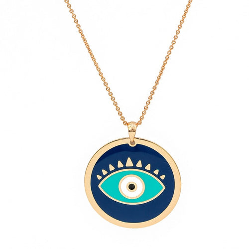Elegant Turkish Evil Eye Necklace (New) - Evileyes.net