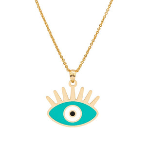 Turkish Evil Eye Necklace With Rays (New) - Evileyes.net