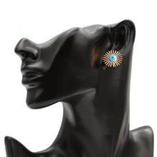 Load image into Gallery viewer, Sun Rays Evil Eye Stud Earrings - Evileyes.net