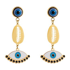 Turkish Evil Eye Dangle Earrings