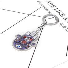 Load image into Gallery viewer, Hamsa Hand Evil Eye Keychain