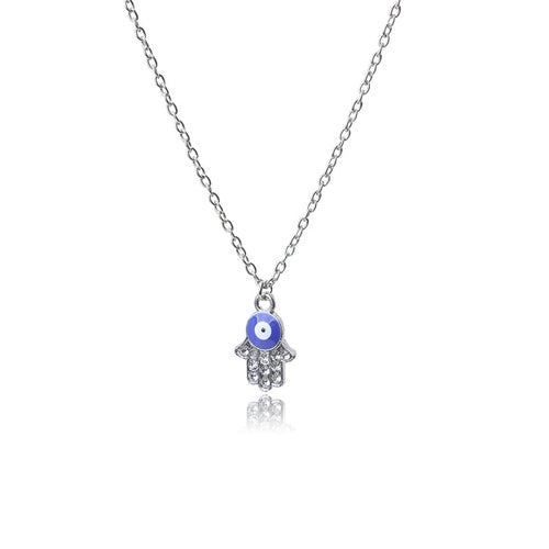 Evil Eye Necklace With Hand of Fatima - Evileyes.net