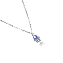 Load image into Gallery viewer, Evil Eye Necklace With Hand of Fatima - Evileyes.net