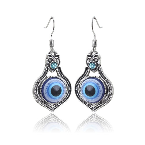 Bohemian Evil Eye Drop Protection Earrings - Evileyes.net