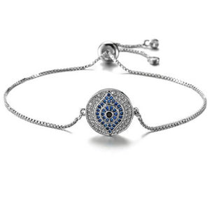 Elegant Evil Eye Protection Bracelet With CZ Stones - Evileyes.net