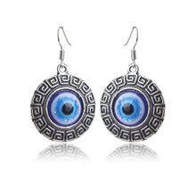 Load image into Gallery viewer, Evil Eye Round Drop Earrings for Protection - Evileyes.net