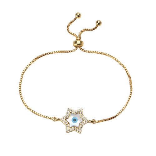 Lucky Star Gold Evil Eye Bracelet