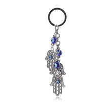 Load image into Gallery viewer, Turkish Evil Eye Keychain With Hamsa Hand