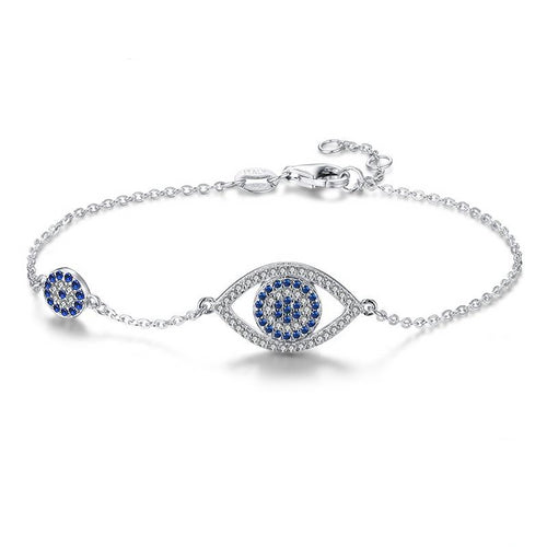 Adjustable Evil Eye Bracelet With CZ Stones - Evileyes.net