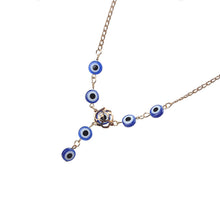 Load image into Gallery viewer, Evil Eye Necklace With Evil Eye Beads - Evileyes.net