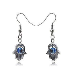 Evil Eye Protection Earrings With Hand of Fatima - Evileyes.net