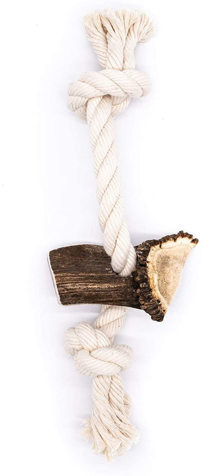 X-Large Split Elk Antler Rope Toy