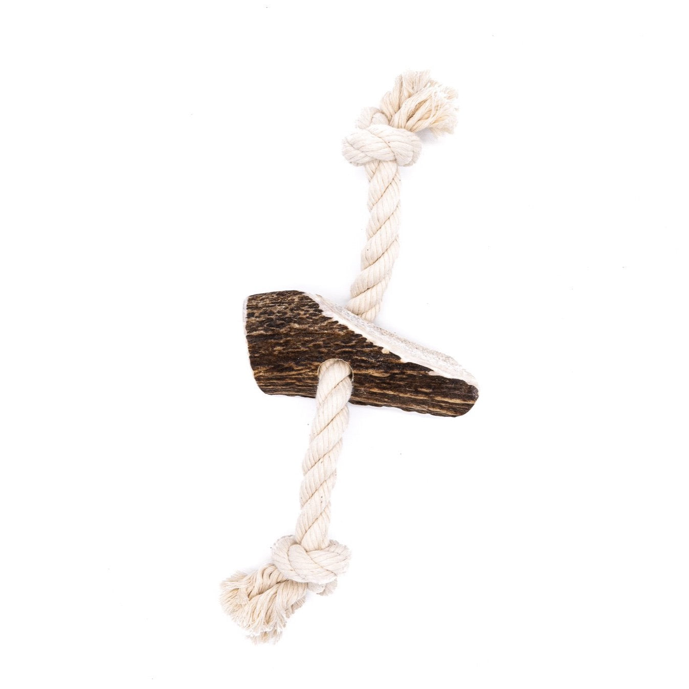 Large Split Elk Antler Rope Toy