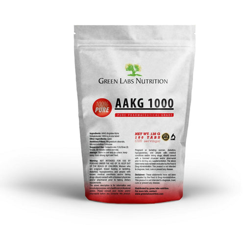 AAKG 1000mg Tablets - Green Labs Nutrition
