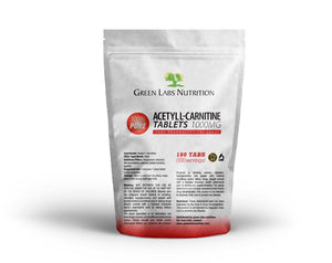 Acetyl L-Carnitine 1000mg Tablets - Green Labs Nutrition