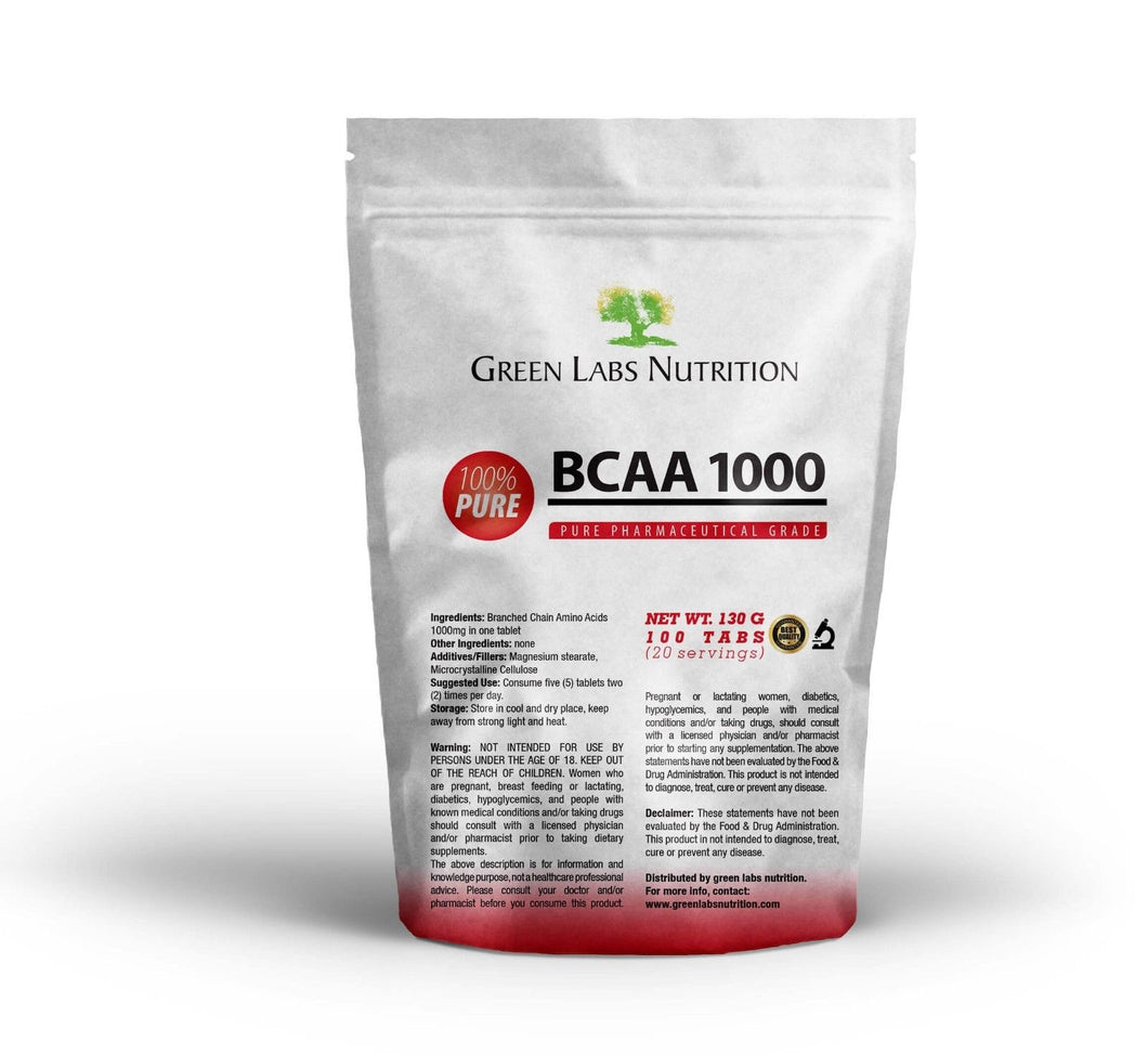 BCAA 1000mg Tablets - Green Labs Nutrition