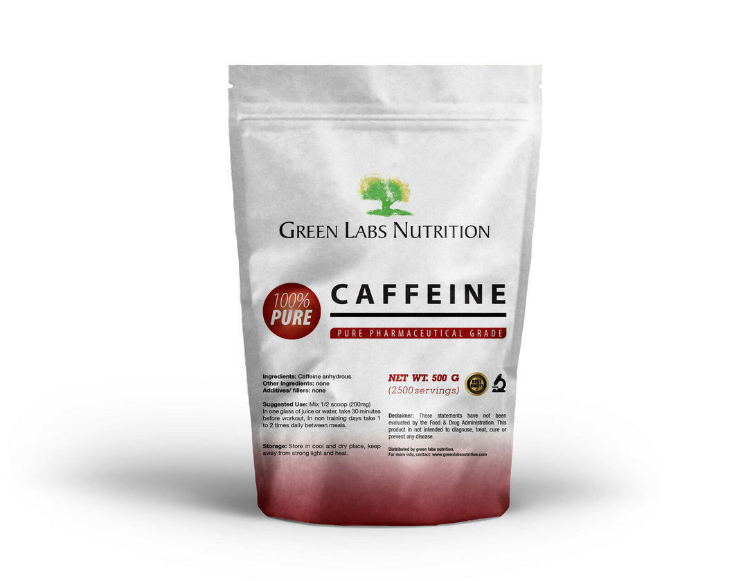 Caffeine Anhydrous Powder - Green Labs Nutrition